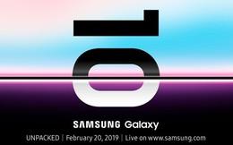 CHÍNH THỨC: Samsung Galaxy S10 sẽ ra mắt vào ngày 20/2