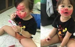 Lơ là vài phút, mẹ trẻ hốt hoảng khi thấy mặt con đỏ choe choét, nhìn xuống nền nhà không biết xử lý ra sao