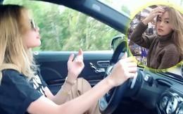 Video: Đang lái xe, Hoàng Thùy Linh gác chân lên ghế, lắc lư theo nhạc