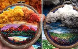 Nghệ sĩ Nga thêu 3D tài tình đến mức cảnh vật như muốn nhảy ra khỏi khung tranh