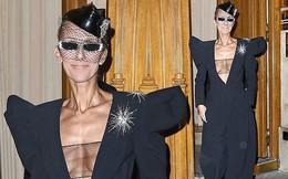 Celine Dion lại gây sốc khi diện váy xẻ sâu khoe ngực với cơ thể nhăn nheo
