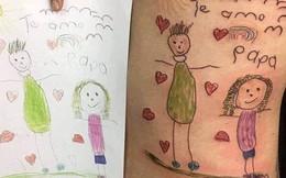Câu chuyện gây xúc động mạnh ngày cuối năm: Ông bố trẻ xăm lên mình bức tranh cuối cùng của con gái