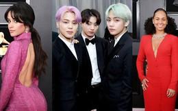 Thảm đỏ Grammy 2019: BTS, Lay (EXO) lung linh bên dàn sao Âu Mỹ