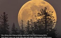 Rằm tháng Giêng: Việt Nam đón siêu trăng