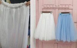 Mua váy bồng bềnh 3 lớp voan giá 130k, cô gái uất ức nhận sản phẩm chẳng khác gì miếng giẻ lau nhà