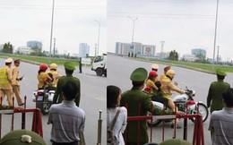 Hành động đẹp: CSGT dùng xe đặc chủng chở 2 mẹ con đi cấp cứu khi quốc lộ 1 bị cấm đường
