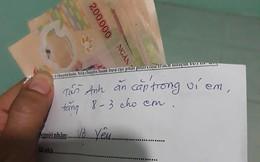 Vợ trẻ khoe món quà ngày 8/3 là xấp tiền 200 nghìn dày cộp, nhưng thư tay chồng viết mới thật buồn cười