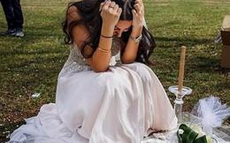 Cô dâu mặc váy cưới khóc than bên mộ vị hôn phu và nguyên nhân đau lòng phía sau