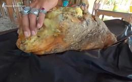 Video: Vật thể bí ẩn trên bãi biển, nghi 'cục nôn' của cá voi trị giá 11,6 tỷ đồng