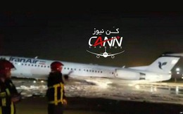 Iran: Máy bay chở 100 khách bốc cháy tại sân bay ở Tehran