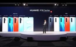 """Huawei P30 và P30 Pro ra mắt với camera đỉnh cao: 4 camera, chụp thiếu sáng """"ăn đứt"""" iPhone XS Max và Galaxy S10, zoom 50X"""