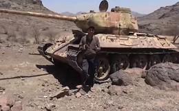 Houthi chiếm xe tăng Т-34-85 của quân đội Yemen