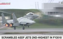 Chiến đấu cơ Nhật Bản nhiều lần xuất kích chặn máy bay Trung Quốc