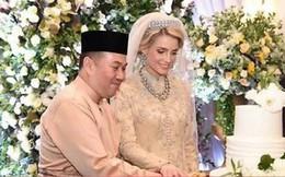 Hé lộ những hình ảnh đầu tiên về cô dâu thường dân Thụy Điển, chiếm trọn trái tim Thái tử Malaysia trong đám cưới xa hoa