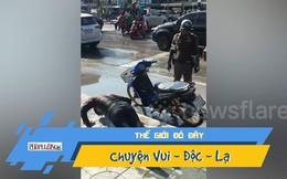Video: Bị cảnh sát 'hành' kiểu độc vì không đội nón bảo hiểm