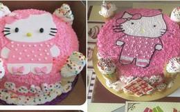 Hí hửng đặt mua bánh sinh nhật Hello Kitty, cô gái ngậm ngùi nhận ra hình ảnh vốn chỉ mang tính minh họa