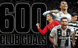 Ronaldo cán mốc 600 bàn thắng trước Messi