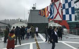 [ẢNH] Tàu hộ vệ tên lửa Gepard 3.9 Việt Nam mở cửa đón khách Trung Quốc tham quan