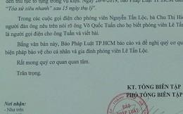 """Một phóng viên Báo Pháp Luật TP HCM bị dọa """"thanh toán cả gia đình"""""""