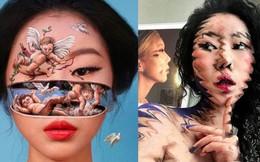 Bối rối với những khuôn mặt được trang điểm theo phong cách 3D đầy lú lẫn