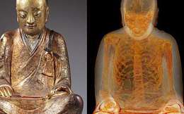 Tượng Phật 1.000 năm tuổi chứa xác ướp nhà sư chết trong thiền định