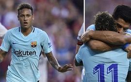 """Giữa bão tin đồn, Neymar ghi bàn đẳng cấp giúp Barca đánh bại """"trùm giao hữu"""" Man United"""