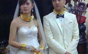 """""""Hoa mắt"""" vì vàng trong đám cưới ở Lạng Sơn"""