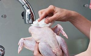 Rửa thịt gà trước khi nấu có thể gây chết người?