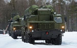 Hình ảnh hệ thống S-400 Triumf bảo vệ bầu trời Moscow
