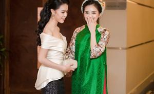 Đây là cách mỹ nhân học giỏi, được lòng truyền thông nhất Hoa hậu VN lần đầu xuất hiện ở event