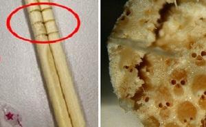 Nếu bạn thấy những vòng tròn trên đôi đũa dùng một lần, hãy bỏ ngay đừng dùng nó để ăn vì...