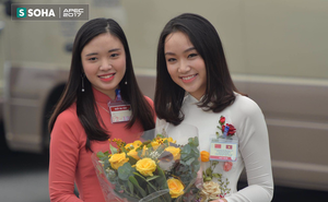 Chân dung thiếu nữ tặng hoa Chủ tịch Trung Quốc Tập Cận Bình tại Nội Bài trưa nay