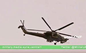 Chùm video: Trực thăng tấn công Nga truy sát khủng bố ở Palmyra