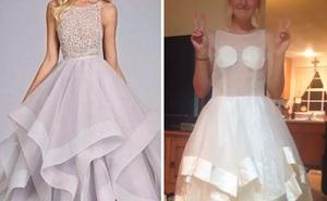 Những bộ váy prom thảm họa mua online biến công chúa thành phù thủy trong chớp mắt