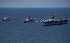 Hàn Quốc cảm giác 'bị lừa' khi tàu sân bay Mỹ không tới