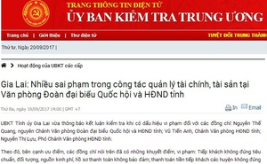 Văn phòng Đoàn ĐBQH, HĐND Gia Lai chi sai cả chục tỷ đồng