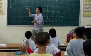 """Thầy giáo cấp 1 cùng màn múa """"Đàn gà con"""" không thể đáng yêu hơn gây sốt Facebook"""