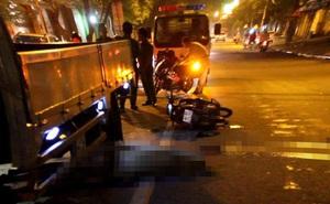 Va chạm với xe tải, 1 người tử vong, 1 người nguy kịch