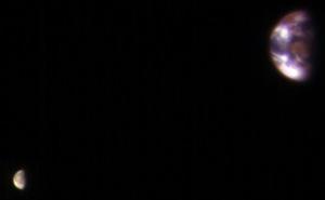 Bức ảnh độc nhất về Trái Đất và Mặt Trăng chụp từ sao Hỏa