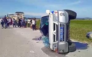 Khai nhận của giám đốc công ty vệ sỹ điều khiển ô tô Fortuner tông lật xe CSGT