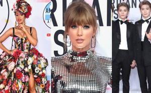"""Dàn siêu sao đổ bộ thảm đỏ AMA 2018: Taylor Swift """"chói lóa"""" cả sự kiện"""