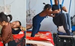 Bé gái 6 tuổi tự kiếm tiền chăm sóc cha tàn tật suốt nhiều năm