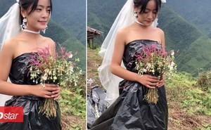 Không có tiền thuê váy cưới, cô dâu mặc túi rác đen trong ngày trọng đại