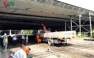Xác định nguyên nhân sự cố sập mái che hầm sông Sài Gòn