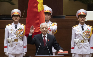 Hình ảnh Chủ tịch nước Nguyễn Phú Trọng tuyên thệ nhậm chức