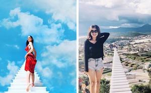 Nấc thang lên thiên đường: Điểm check-in mới toanh đánh lừa thị giác người nhìn ở Đà Lạt