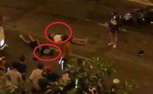 Clip: Hiện trường tai nạn khi đi 'bão', người bị thương nằm la liệt trên phố Sài Gòn