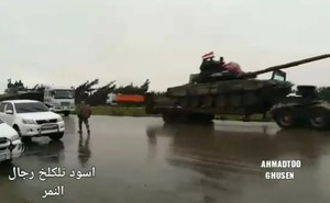 Đặc nhiệm Tiger rầm rầm kéo về đông Damascus: Lần đầu tiên xe tăng T-90 ồ ạt xung trận