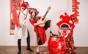 Vợ chồng DJ Tít nổi loạn trong bộ ảnh chào năm mới