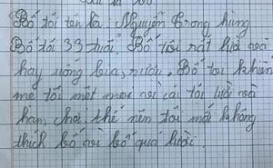"""Dân mạng phì cười với bài văn """"bán đứng"""" bố của một bé gái Hà Nội: Bố rất lười, ham chơi, hay khiến mẹ tôi buồn"""